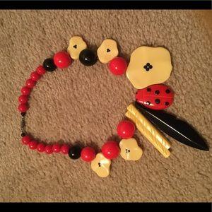 Fun ladybug necklace 🎉🎉